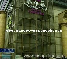 flexible woven wire drapery decorative wire mesh
