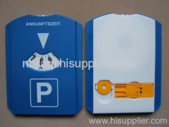 plastic cars parking disc