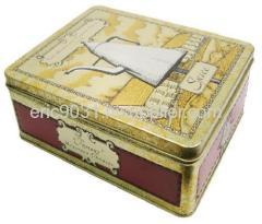 rectangle tea bag tin