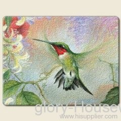 Hummingbirds & Honeysuckle Cutting Board