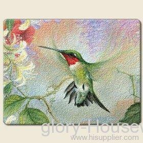 Hummingbirds & Honeysuckle Cutting Board