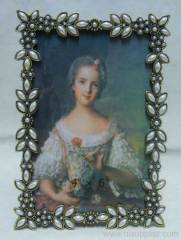pewter photo frame