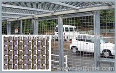 Crimped wire mesh of white wire