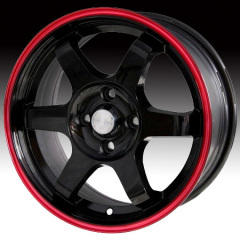 Alloy Wheel black with red line