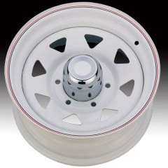 Steel Wheel White with red pin stripe