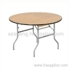 Round banquet folding table