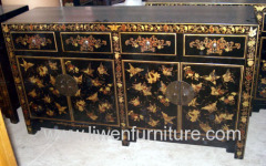 Antique chinese painted buffet