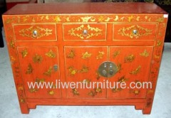 Oriental antique buffet 3 drawers 3 doors