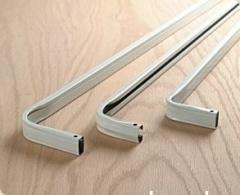 Single curtain rod