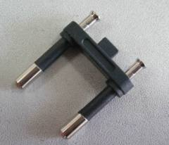 Brazil type electrical plug insert with two-pin