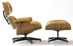 Eames Lounge Chair And Ottoman With Leather