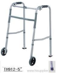 Aluminum Folding Walker w/ Wheel