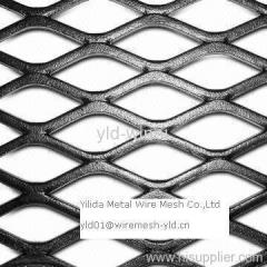 black pvc coated flattened expanded metals