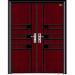 non standard wood steel door