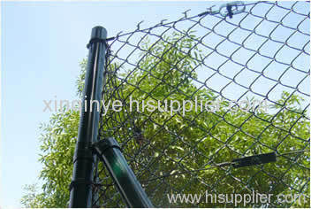 Green PVC Coated Chain Link Fences