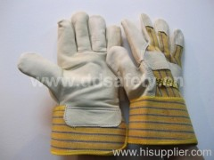 Cow leather work glove