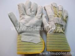Pig leather work glove