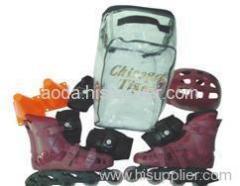 roller skate set with helmet