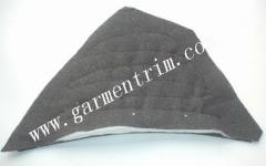 black shoulder pads