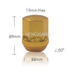 yellow lock lug nut