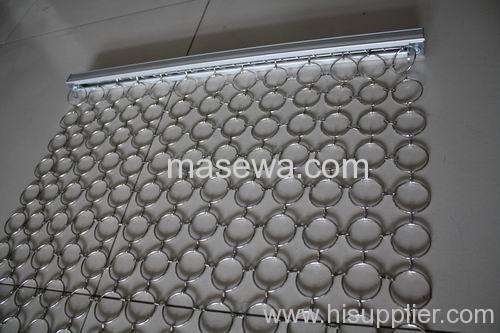 decorative circle mesh brass metal ring curtain