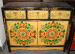 Ancient painted cabinet
