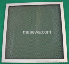 metal mesh in frame