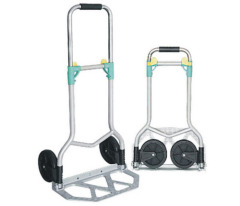 Aluminium trolley with foot plate