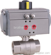 pneumatically actuated 2 piece ball valve