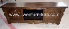 Antique Tv cabinet natural