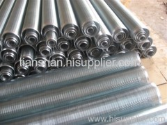 Wedge wire wrapping screen