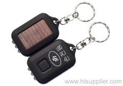 Solar key chain flashlight