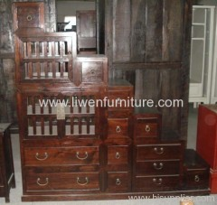 Antique stair cabinet