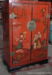 Chinese wood furniture painted cabinet