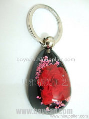 Flower Amber Key Chains