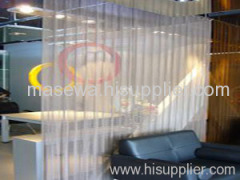 Architectural coil Drapery curtain