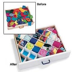 Diamond drawer organizer