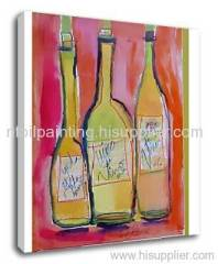 Bottle oil paintings