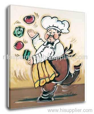 Kitchen oil painting