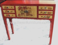 Chinese Mongolia painting side table