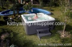Full function outdoor spa hot tub