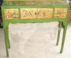 Chinese painted side table