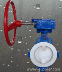 Wafer type PTFE-Lined Butterfly Valve