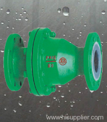 FEP lined swing type check valve