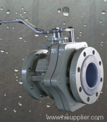ANSI B16.10 PFA lined ball valve