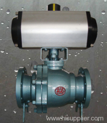 Pneumatic actuator FEP lined ball valve