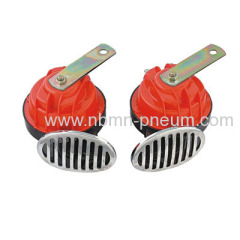 Red or chrome snail horn (Dual)