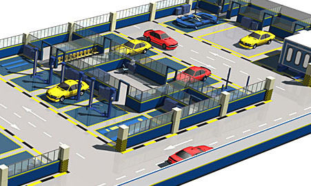 Car Workshop Design Car Maintenance Station Design