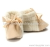Pure baby cashmere booties