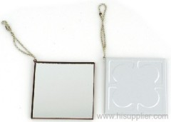 Aluminium pocket mirror